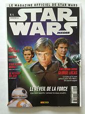 MAGAZINE OFFICIEL PANINI STAR WARS INSIDER N°4 COVER 2/2 2015 SKYWALKER RARE