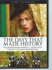 3 DVD BOX - THE DAYS THAT MADE HISTORY  - CHURCHILL DE GAULLE  ENGLISH / NL