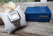 RARE MENS VINTAGE QUARTZ HELMET TISSOT LCD DIGITAL ORIG BRACELET BOX FOR TLC