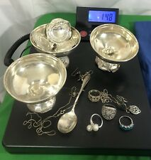 Sterling Silver Jewelry Lot !! Scrap Or Wear !! 148 Grams !!