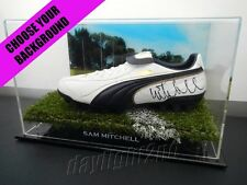 ✺Signed✺ SAM MITCHELL Boot PROOF COA West Coast Hawthorn Hawks 2018 Guernsey