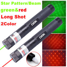 Rechargeable 900miles Zoom Red+Green Laser Pointer Pen Star Light Beam Usb Lazer