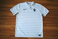 FRANCE NATIONAL TEAM AWAY FOOTBALL SHIRT 2014-2015 JERSEY MAGLIA WHITE LARGE