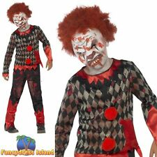 Deluxe Zombie Clown Costume Halloween Scary Childs Kids Boys Fancy Dress Costume