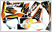 DECAL STICKER KIT IN MX VINYL FITS KTM SX-85 2006-2012 (NON OEM) 259