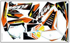 Decalcomania Adesivo KIT IN VINILE MX adatta KTM sx-85 2006-2012 (Non OEM) 259