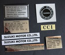 Suzuki GT750/GT550/GT500/GT380/GT250/GT185/125 8 x Decal/Sticker Set