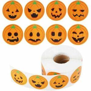 Halloween Pumpkin Orange Stickers Seals Label Gift Party Scrapbooking Spooky