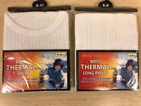 Winter Essentials Kids Comfort Fit Boys Thermal T-Shirt Long Pants Set Baselayer