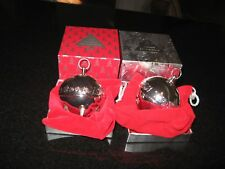 Wallace Limited Edition Annual Sleigh Bells 1999 and 2000 WITH BOX