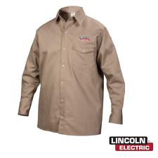 Genuine Lincoln Electric K3382 M Khaki Fr Welding Shirt Medium