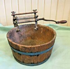 Antique Salesman's Sample Horse Shoe Brand Wash Bucket - A