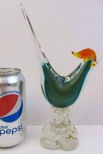 """MURANO ITALY ART GLASS - PHEASANT TAIL ROOSTER BIRD - 8.75"""" (P55B)"""