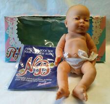 Vintage Berjusa Doll Anatomically Correct Boy Newborn Baby Open Eyes 16� w/ Box