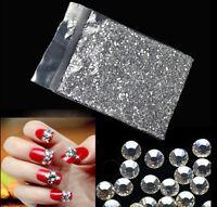 1440p 1.6mm/2mm Crystal AB/clear Flatback Rhinestone Nail Art Decoration DIY