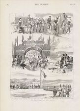 1882 PORTSMOUTH THE VOLUNTEERS TRIUMPHAL ARCH AT COSHAM