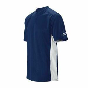 New Mizuno Youth Boy's Size- Medium Navy Blue G2 Baseball Jersey