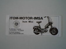 advertising Pubblicità 1974 ITOM MINI 50