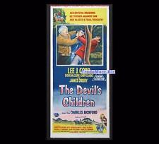 Devils Children 1962 Western Lee J Cobb Original Australian Daybill Movie Poster