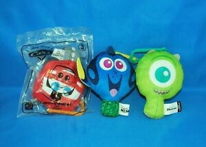 Plushie Lot of 3 Happy Meal Toys in Good Used Condition