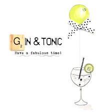 Gin & Tonic Bexyboo Scrabbley Neon Birthday Card Handmade Greeting Cards