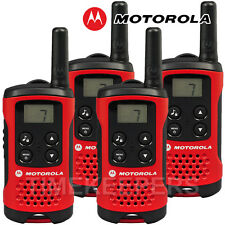 4 KM Motorola TLKR T40 Walkie Talkie 2 due vie PMR 446 Set Radio COMPATTO QUAD