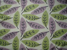 """SANDERSON CURTAIN FABRIC DESIGN """"Block Leaf"""" 1.9 METRES lilac and catkin"""