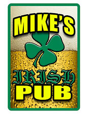 Personalized IRISH PUB Sign Printed with YOUR NAME..ip