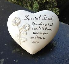 Memorial For Special Dad Heart Shaped Grave Ornament Funeral Tribute