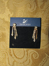 SWAROVSKI CLIP ON EARRINGS NEVER WORN