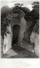 NAPOLI CAPITALE: GROTTA DI POSILLIPO.Naples.Campania Felix.HAKEWILL.ACCIAIO.1819
