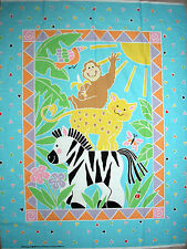 "DAISY KINGDOM-""JOLLY JUNGLE"" WALL-HANGING OR CRIB-QUILT PANEL"
