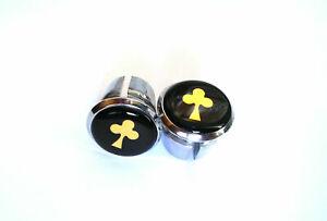 new Colnago 30th arabesque Handlebar End Plugs Bar Caps vintage bouchons Gold 3D