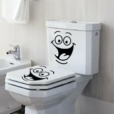 Smile Face Bathroom DIY Toilet Stickers Vinyl Decal Art Wall Paper Decor