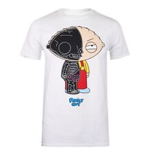 Official Family Guy Mens T-Shirt - Stewie Anatomy Print - White
