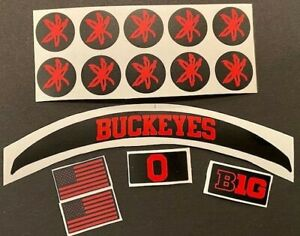 OHIO STATE BUCKEYES ECLIPSE/LUNAR MNI HELMET DECAL PACKAGE - MATTE