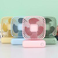 Mini USB Desktop Fan Portable Cooling Fan Adjustable Household Office Angle L4Y2