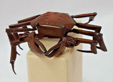 Antique Handmade Copper Articulated Japanese Okimono Crab Circa 1900