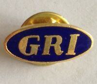 GRI Brand Small Pin Badge Rare Vintage Advertising (F9)