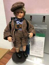 Gabriele Müller Porzellan Puppe Egon 32 cm. Top Zustand