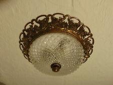 antik alte Deckenlampe Plafoniere Kronleuchter  Messing Goldbronze
