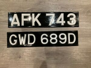 A FRAME. NUMBER PLATES CLASSIC VINTAGE CAR VAN BUS LORRY