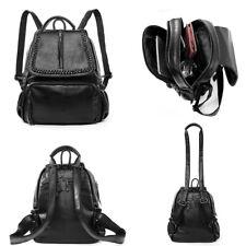 Women Convertible Genuine Leather Backpack Crossbody Shoulder Travel School Bag