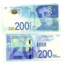 Israele Israel 200 new shekels  2015   FDS UNC rif 4123