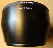New 72mm-58mm Black Lens Adapter Ring Tube for Sony H9 H50 Two Piece