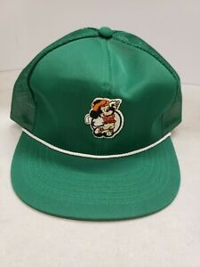 Mickey Mouse Golf Vintage Adjustable Hat Green Embroidery Rope Visor