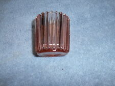 Pink Ribbed Candle Holder - 2 1/4' High X 2 1/2' Wide At Top