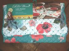 """The Pioneer Woman Vintage Bloom Quilted Reversible Table Runner - NWT 14"""" x 72"""""""
