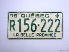 1975 QUEBEC Vintage License Plate TRAILER # R156-222