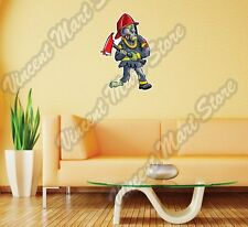 "Zombie Firefighter Monster Dead Gift Wall Sticker Room Interior Decor 16""X25"""